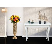 Buy cheap Trumpet Shape Floor Vases Homewares Decorative Items Gold Leafed Fiberglass Table Vases product