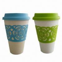 China Biodegradable Bamboo Fiber Mugs, Heat-resistant, Eco-ware, Various Colors are Available on sale