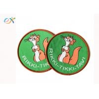 Buy cheap Cute Cartoon Style Custom Woven Patches Merrow Border With Paper Coated product