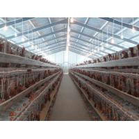 Buy cheap PVC Down Pipe Poultry Farm Structure Chicken Shed With Grey paint Surface product