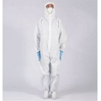 Buy cheap 800 gram Disposable Isolation Gowns Fire Resistant Flame Protection product
