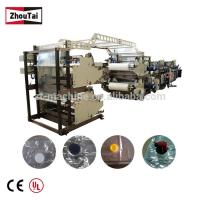 Buy cheap Four Side Seal Plastic Bag Making Machine , Wine Bags Spout Pouch Making Machine product