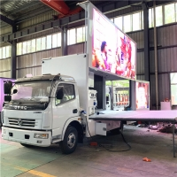 China P5 dongfeng Waterproof Outdoor Video Led Display Screen Truck For Sale in Congo, good Mobile LED advertising vehicle on sale