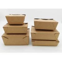 Buy cheap Microwavable Stackable Folding Cardboard Takeaway Food Containers Recyclable product