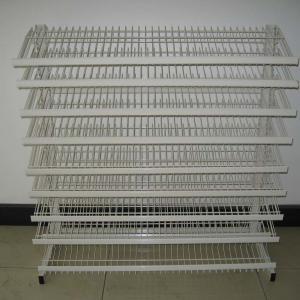 Buy cheap Floor Standing Adjustable Wire Rack , Mulitple Tier Adjustable Display Shelves from wholesalers