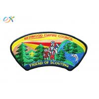 Buy cheap Twill Background Fabric Boy Scout Uniform Patches 100% Embroidery With Merrowed Border product