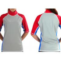 Buy quality Children Uni-Sex Short Sleeve Lycra Rash guard sport shirt Blue gray red color OEM at wholesale prices