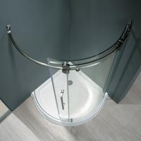 Buy cheap Frameless Round Sliding Shower Enclosure with 10mm Clear Glass and Stainless Steel Hardware product