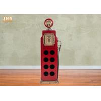 Buy cheap Antique Wood Wine Rack Decorative Storage Cabinets MDF Floor Wine Rack 8 Bottle Red Color product