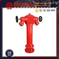 China BS750 PILLAR FIRE HYDRANT WITH FLANGE RED COLOR DUCTILE MATERIAL GOOD QUALITY PRICE LIST on sale