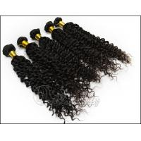 Buy quality 12 inch - 32 inch Brazilian Remy Human Hair Black Color Deep Wave at wholesale prices