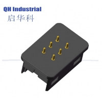 Buy cheap 6Pin Male Female 1A 2A 3A House-hold Application Device Smart Device Magnetic Pogo Pin Charging Power Connector product