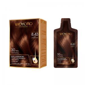 Buy cheap Mild Plant Formula Hair Color Shampoo Low Ammonia / Hair Dye Shampoo product