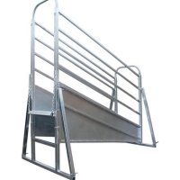 Buy cheap Dust Proof Height 3200mm Adjustable Cattle Loading Ramp product