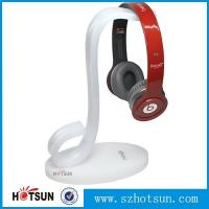 Buy cheap High quality earphones holder,custom made clear acrylic earphones holder headphone display stand product