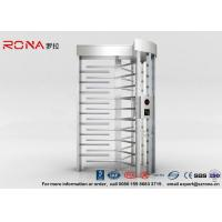 Buy cheap High Security Full Height Turnstile Access Control 30 Persons / Minute Transit Speed product