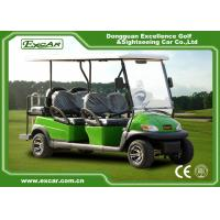 Buy cheap Green 6 Passenger Electric Golf Carts Charging Time 8-10 Hours Steel Chassis from wholesalers