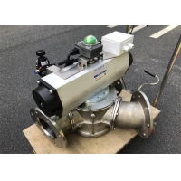 Buy cheap Particles Conveying SS304 0.6 Bar DN40 Two Way Diverter Valve product