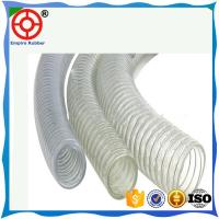 Buy cheap HELIX SPIRAL RUBBER HOSE STEEL WIRE REINFORCED SUCTION AND DISCHARGE PVC STEEL WIRE HOSE product