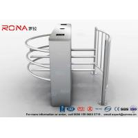 Buy cheap Semi Automatic Waist Height Turnstiles Entrance IC/ID Card Access Control AC220V product