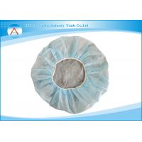 ECO-friendly Hospital Nonwoven Strip Disposable Surgical Hats White / Blue