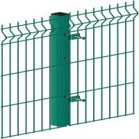 Buy cheap Green 3D Welded Curved Panel Welded Wire Fence Triangle Bending Eco Friendly product