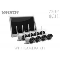 Buy cheap White 1.0 MP 8 Channel NVR Kit , Home Wireless Camera Video Surveillance System from wholesalers