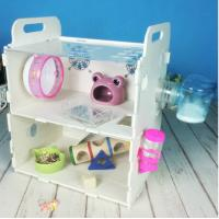 Buy cheap Customized Acrylic pet house acrylic reptile box hamster cage,double layers acrylic comfortable hamster cage product