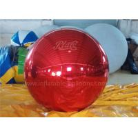 Inflatable Christmas Decoration Balloons Personalised Red Mirror Ball