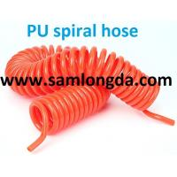 Buy cheap TPU Recoil air hose tube with NPT  fitting for compressed air system,blue color, yellow color product