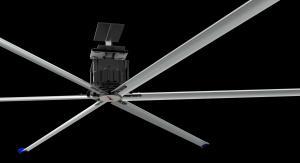 Buy cheap Blade Diameter 3.6m 12ft HVLS Ceiling Fan Energy Saving product