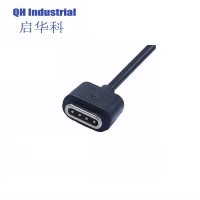 Buy cheap 2A~3A 700gf Stong Magnetic Force 80cm High Quality Male & Female 4Pin Magnetic Charging USB Cable Connector product