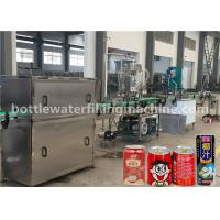 Buy cheap Juice / Milk Beverage Filling Machine , Aluminum Can Filling Sealing Machine product