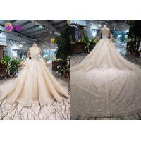 Buy cheap O - Neck Sleeveless Handmade Bridal Ball Gowns Special Dress For Wedding from wholesalers