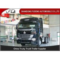 Buy cheap CNHTC 6 × 4 SinotrukTractor Head Trucks With 10 Wheel  HOWO A7 Model 420HP product
