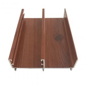 Buy cheap 0.8-2.0mm Electrophoresis Aluminum Window Profiles Wood Grain Surfaces product