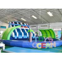 Giant Slide Big Swimming Pool Inflatable Water Park Jungle Fish Summer
