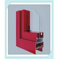 Anodized Flat Open Window Aluminum Profile For Glass Wall Red Color ISO Certification