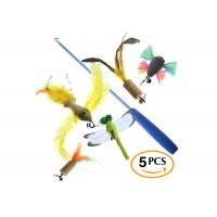 Funny Flexible Cat Feather Toys / Cat Bird Toy With Durable Fishing Line