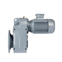 Buy cheap Flange Mounted Reduction Ratio 1/3 Parallel Helical Gearbox Cast Iron product