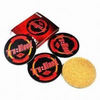 Buy cheap Cork/ Wooden Coasters with 3 to 5mm Thickness product