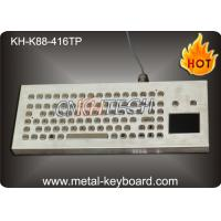 Water Resistant Desktop Industrial Keyboard With Trackball / Touchpad Mouse , 90 Keys