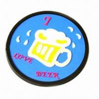 Buy cheap Soft PVC Coaster with 9cm Diameter product