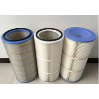 Buy cheap HEPA Air Pleated Filter Cartridge For Dust Collector 0.2 Micron Porosity product
