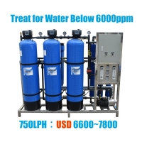 PLC RO Commercial Water Purifier 500 LPH For Purified Drinking Water Treatment for sale
