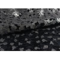 Buy cheap Golden Black Sequin Lace Fabric With 3D Embroidery Fabric For Party Gown Dresses product