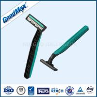 Buy cheap Rubber Handle Twin Blade Disposable Razor Any Color Available ISO Certificate product