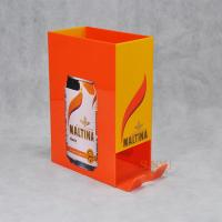 Buy cheap Orange Acrylic Food Display Stands / Beverage Display Rack For Can Beverage product