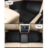 China supplier 5D design PU leather car foot mats