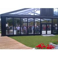 Buy cheap High Reinforced Aluminum Outdoor Wedding Tents With Sidewalls Glass Cover 20x20m product